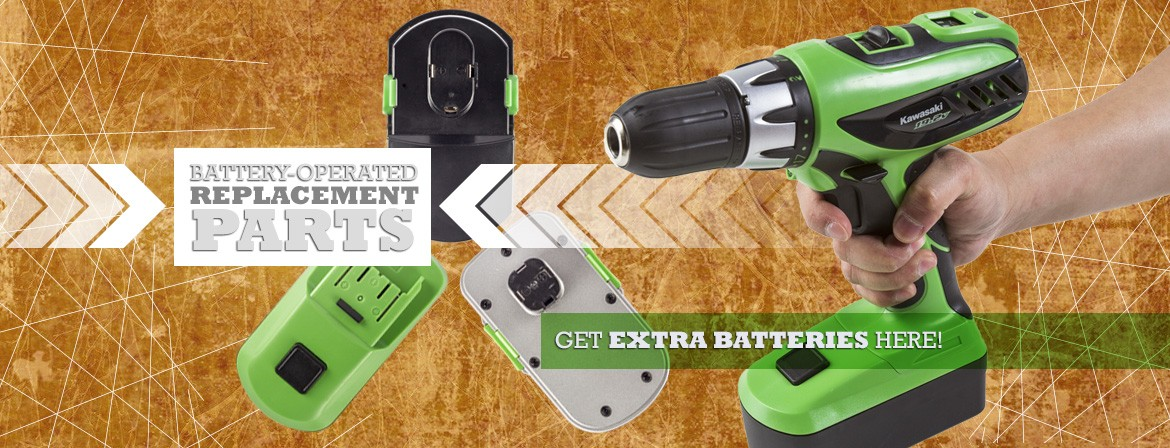 Get your Kawasaki, Masterhand, TradesPro battery-powered accessories here